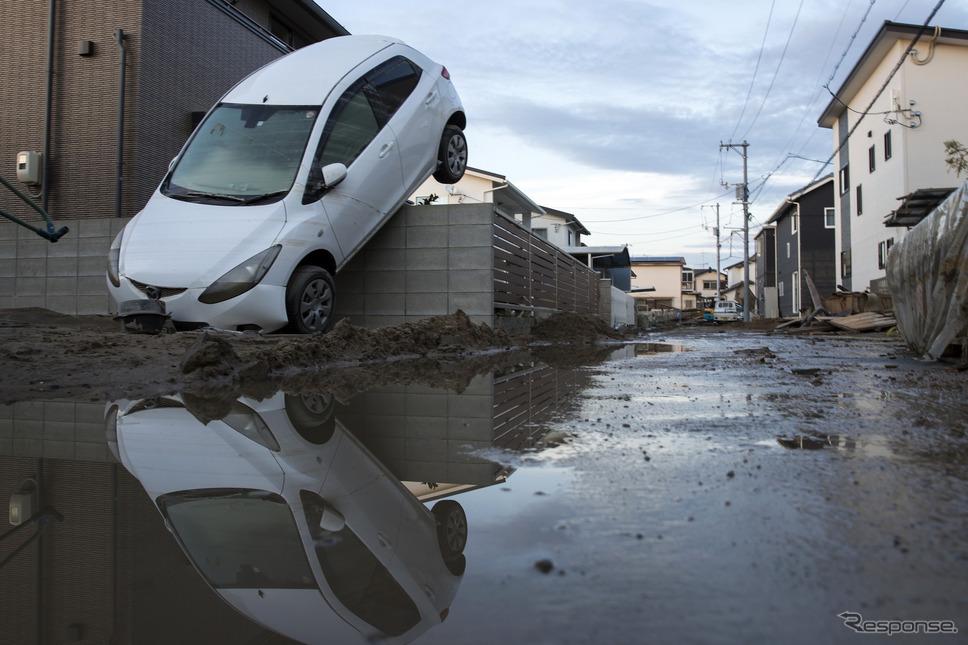 平成30年7月豪雨(7月9日、岡山県倉敷市)《photo (c) Getty Images》