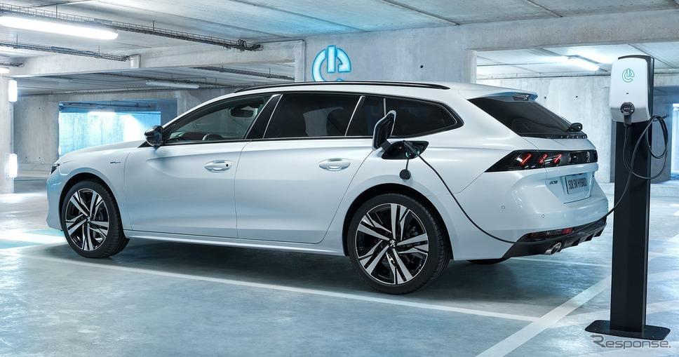 プジョー508SWハイブリッド《photo by Peugeot》
