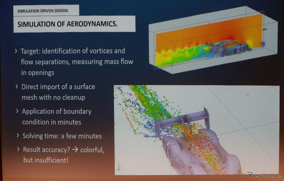 シミュレーションの定番ともいえる流体シミュレーション。ただし、現実世界ほどの精度はまだない≪撮影:中尾真二≫