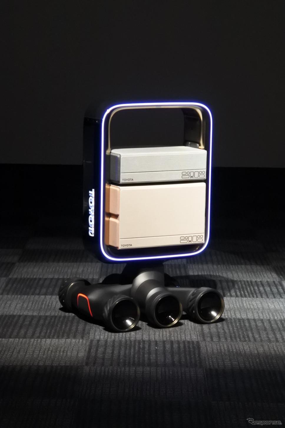 トヨタ自動車が東京モーターショー2019に出展予定の新モビリティ《撮影 小松哲也》