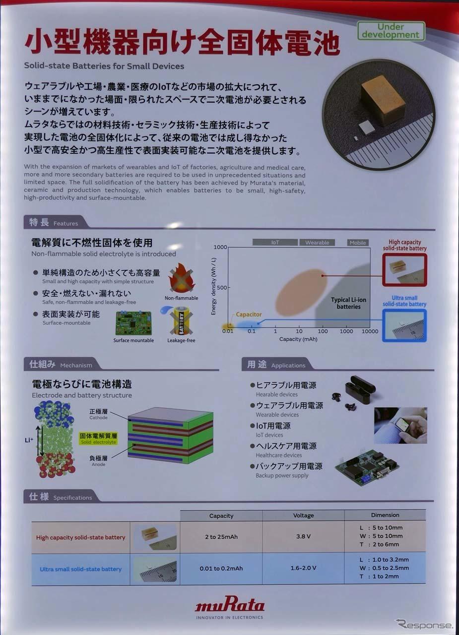 全固体電池の説明パネル《撮影 会田肇》