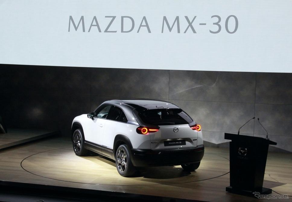 マツダ量産型EV MX-30発表《撮影:中尾真二》