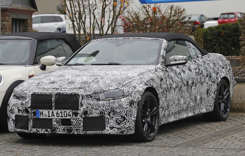 BMW M4カブリオレ 新型プロトタイプ スクープ写真《APOLLO NEWS SERVICE》