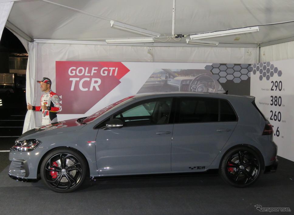 VWゴルフGTI TCRは600台限定、価格は509万8000円。《撮影 遠藤俊幸》