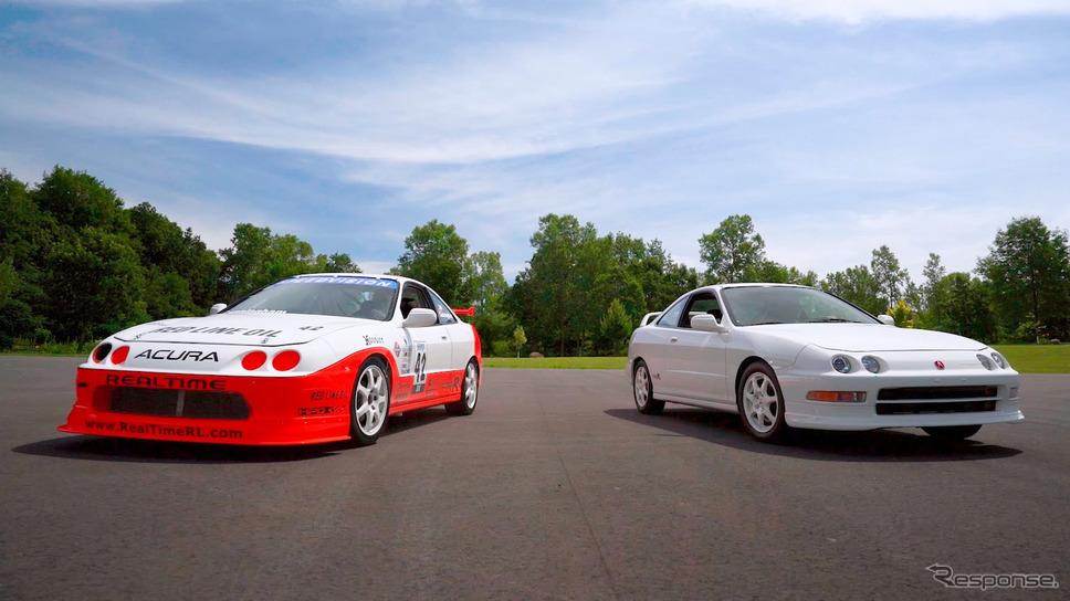 初代アキュラ・インテグラ・タイプR のレーシングカーと市販モデル《photo by Acura》