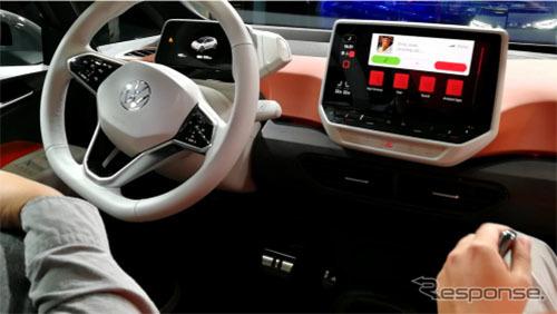 VW ID.3はタブレット風IVIを搭載《画像:イード》