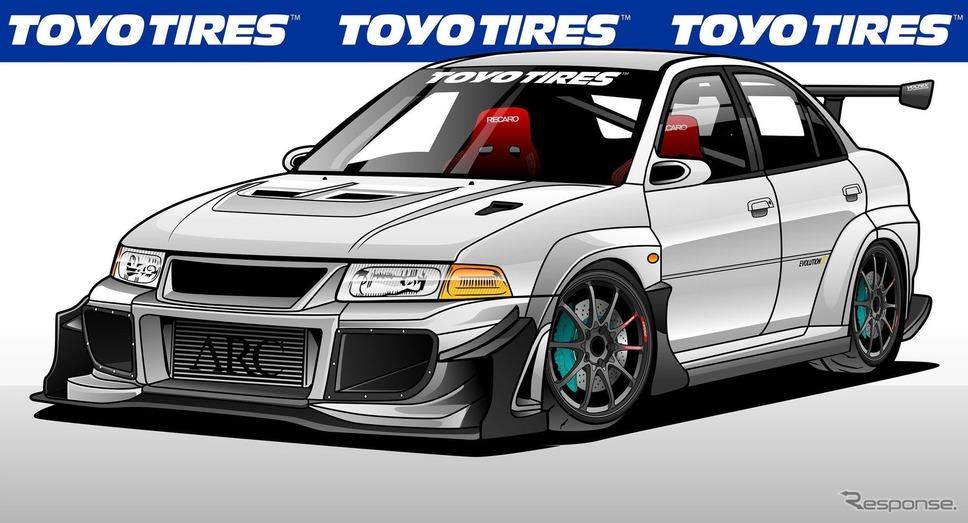 三菱 ランサー エボリューションのカスタマイズカー《photo by Toyo Tires》
