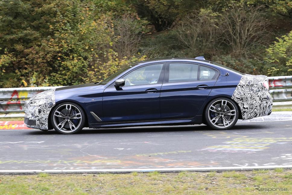 BMW 5シリーズ 改良モデル(LCI)プロトタイプ スクープ写真《APOLLO NEWS SERVICE》