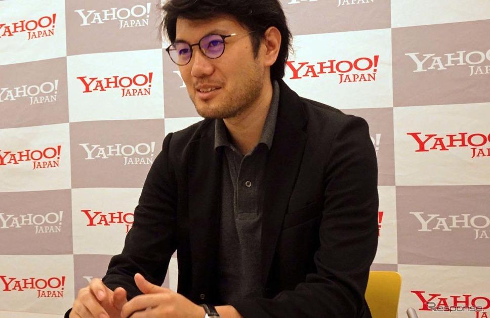 インタビューに答えるYahoo!カーナビのサービスマネージャー齋藤聖隆氏