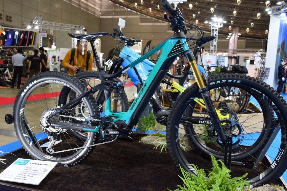 シマノのE-BIKEユニットSTEPSを積んだメリダのフルサスペンションバイク《撮影 釜田康佑》