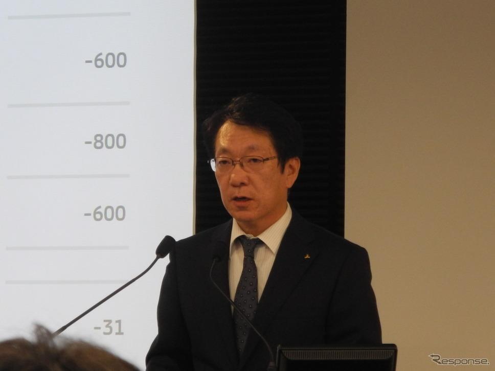 三菱自動車工業の加藤隆雄CEO《撮影 山田清志》