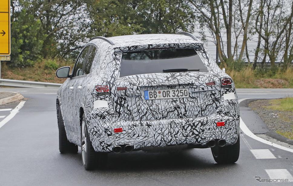 メルセデス AMG GLA45 開発車両 スクープ写真《APOLLO NEWS SERVICE》