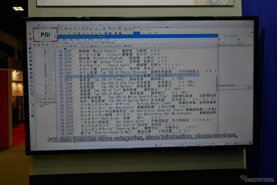 インクリメントPが整備したOPIデータのリスト《撮影 会田肇》