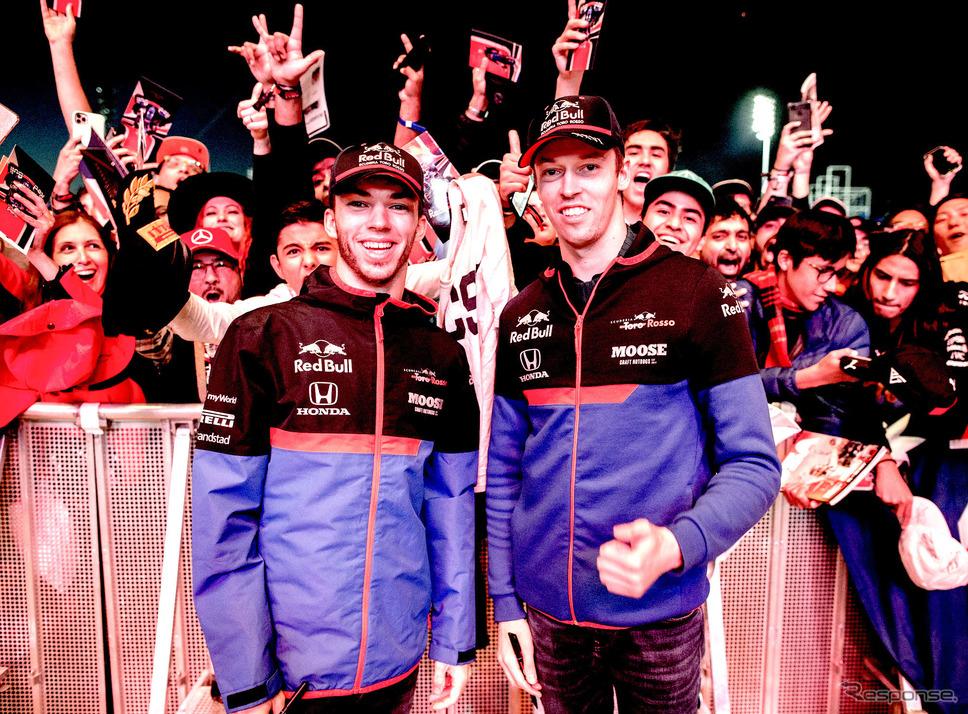 来季のトロロッソ・ホンダ残留が決まったガスリー(左)とクビアト(右)。《写真提供 Toro Rosso》
