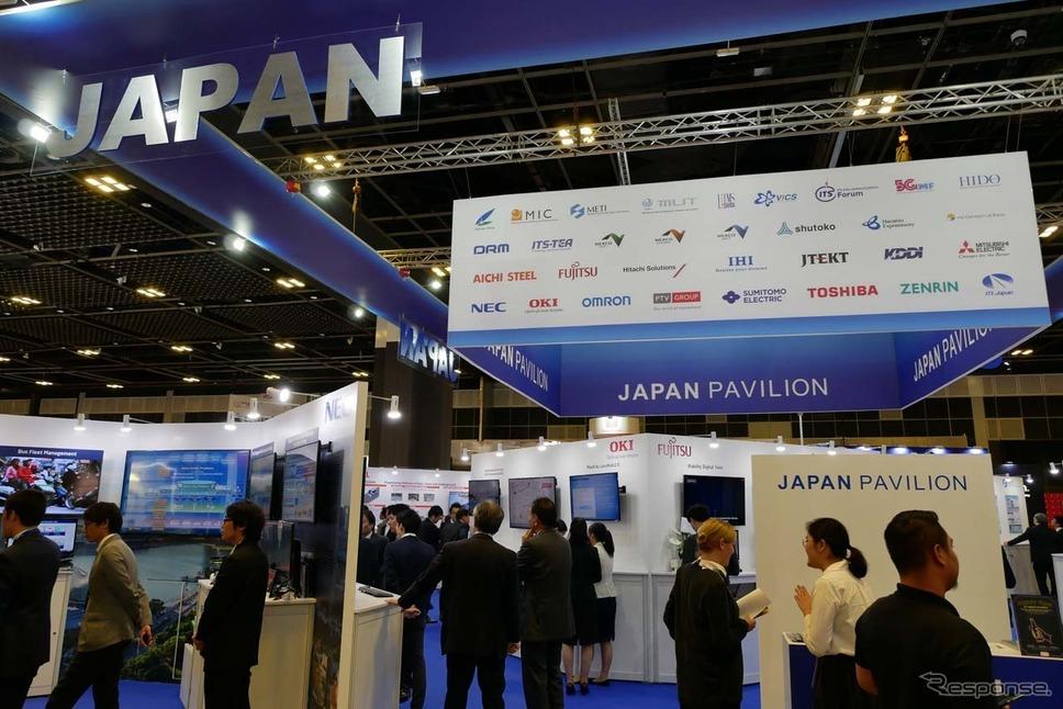 日本の企業の多くはJAPAN PAVILION内に出展する例が多かった
