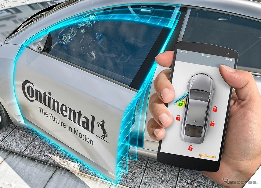 コンチネンタルの仮想スマートフォンキー(参考画像)《photo by Continental》