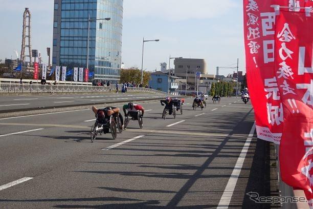 第39回大分国際車いすマラソン (大分市の弁天橋)《撮影 池原照雄》