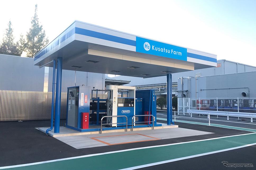 水素ステーション H2 Kusatsu Farm《画像:パナソニック》