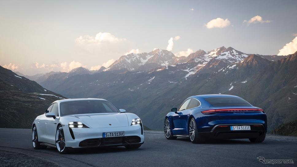 ポルシェ・タイカン・ターボSと タイカン・ターボ《photo by Porsche》