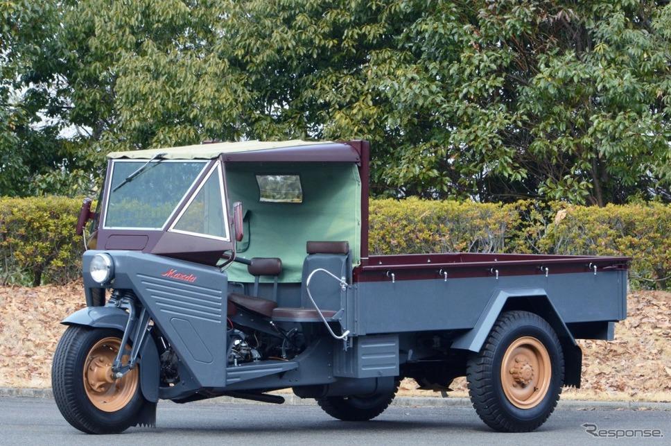 ・マツダ 三輪トラック CTA型(1953年)《画像:アムラックストヨタ》