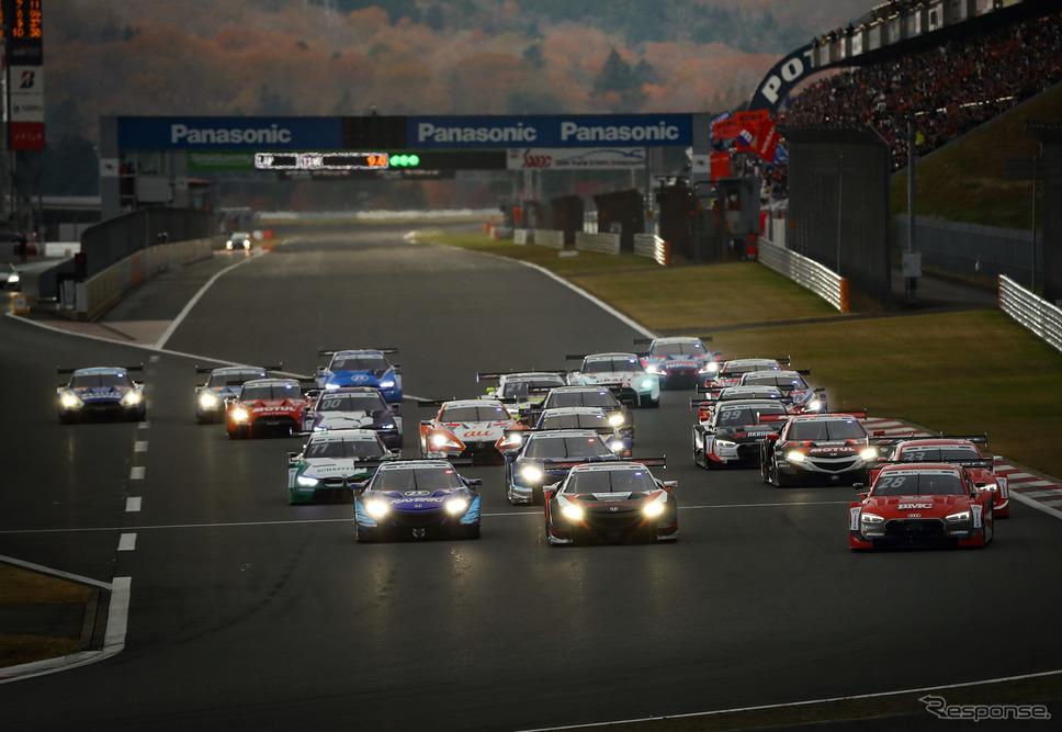 「レース2」のスタート。《撮影 益田和久》