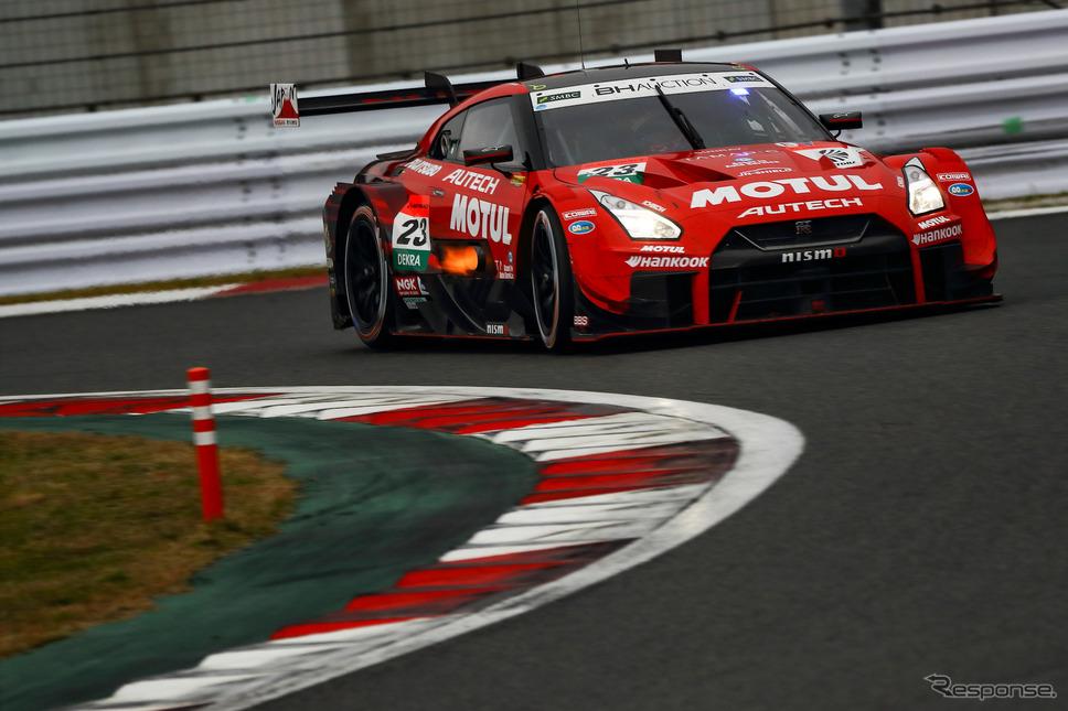 決勝11位の#23 日産GT-R(松田次生)。《撮影 益田和久》