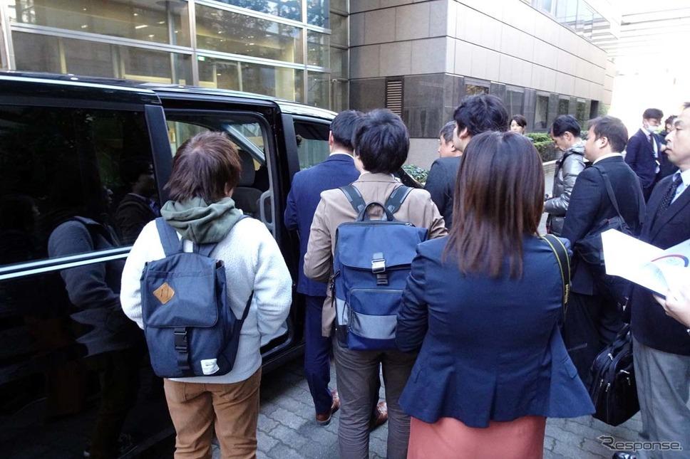 発表は日本自動車工業会がある記者クラブで実施された