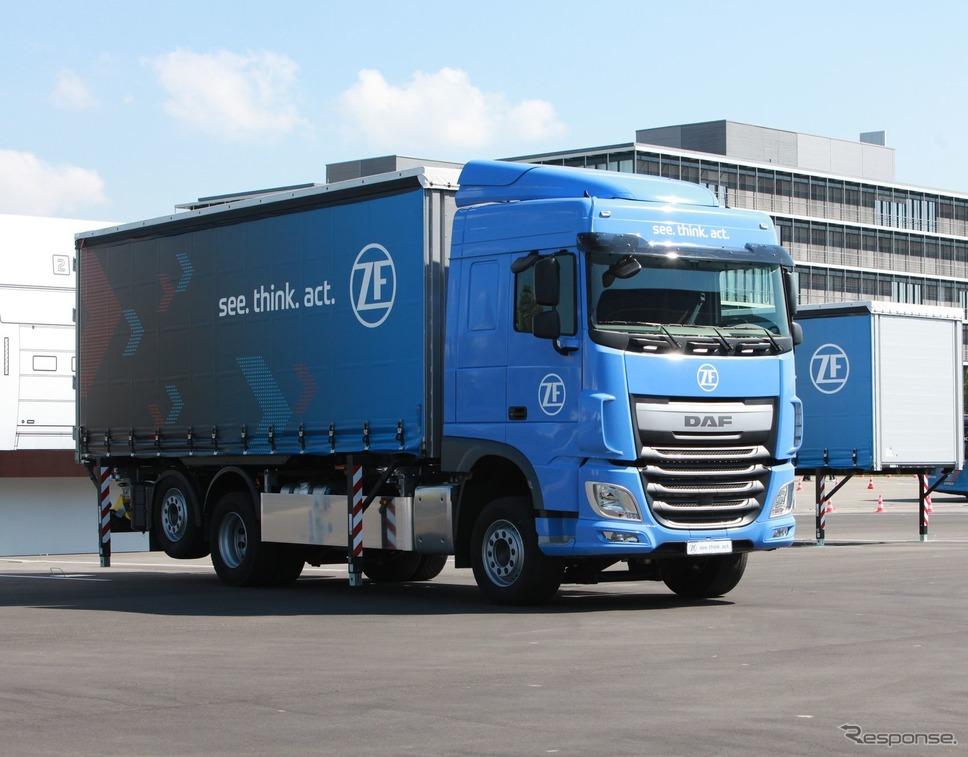 ZFの電動パワートレインを搭載した大型トラック(参考画像)《photo by ZF》