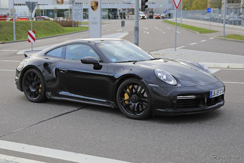 ポルシェ 911 ターボS 開発車両 スクープ写真《APOLLO NEWS SERVICE》