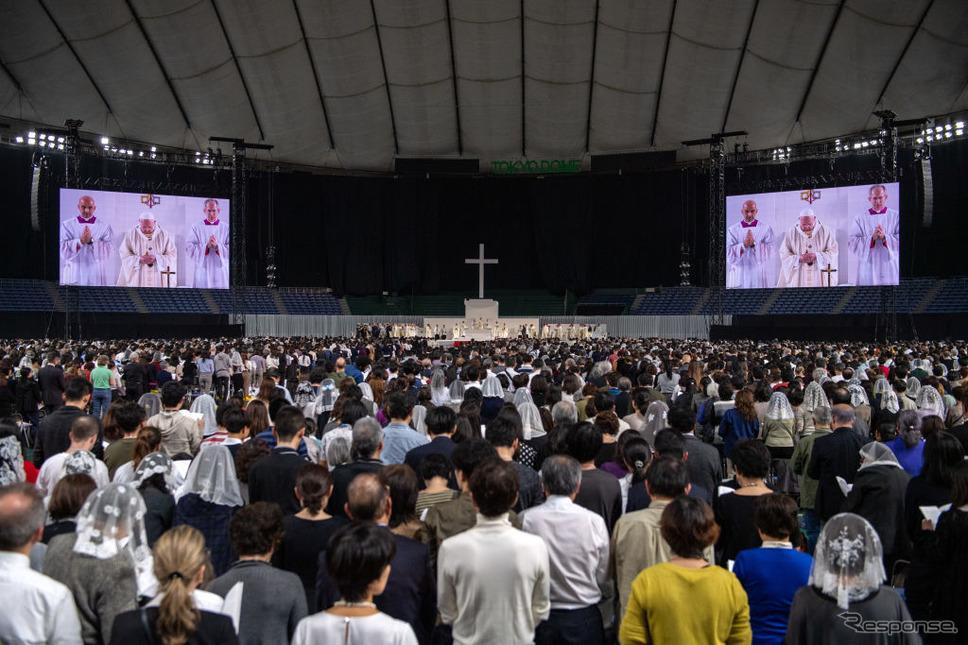 ローマ教皇、東京ドームでミサ《photo (c) Getty Images》