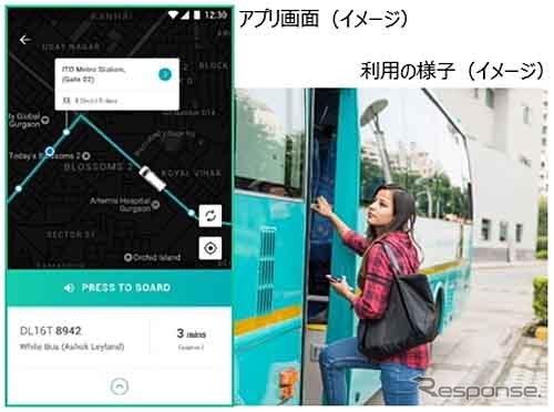 中・長距離バスアプリサービス「Shuttl(シャトル)」《画像:豊田通商》