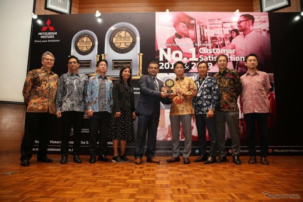 JD PowerのインドネシアにおけるCSI調査、SSI調査で1位獲得《画像:三菱自動車》