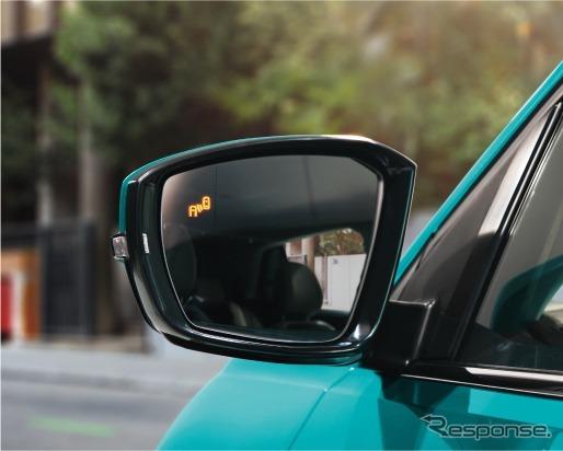 VW Tクロス ブラインドスポットディテクション(後方死角検知機能)《画像:フォルクスワーゲングループジャパン》