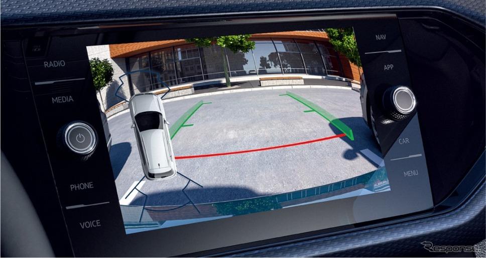 VW Tクロス リヤビューカメラ《画像:フォルクスワーゲングループジャパン》