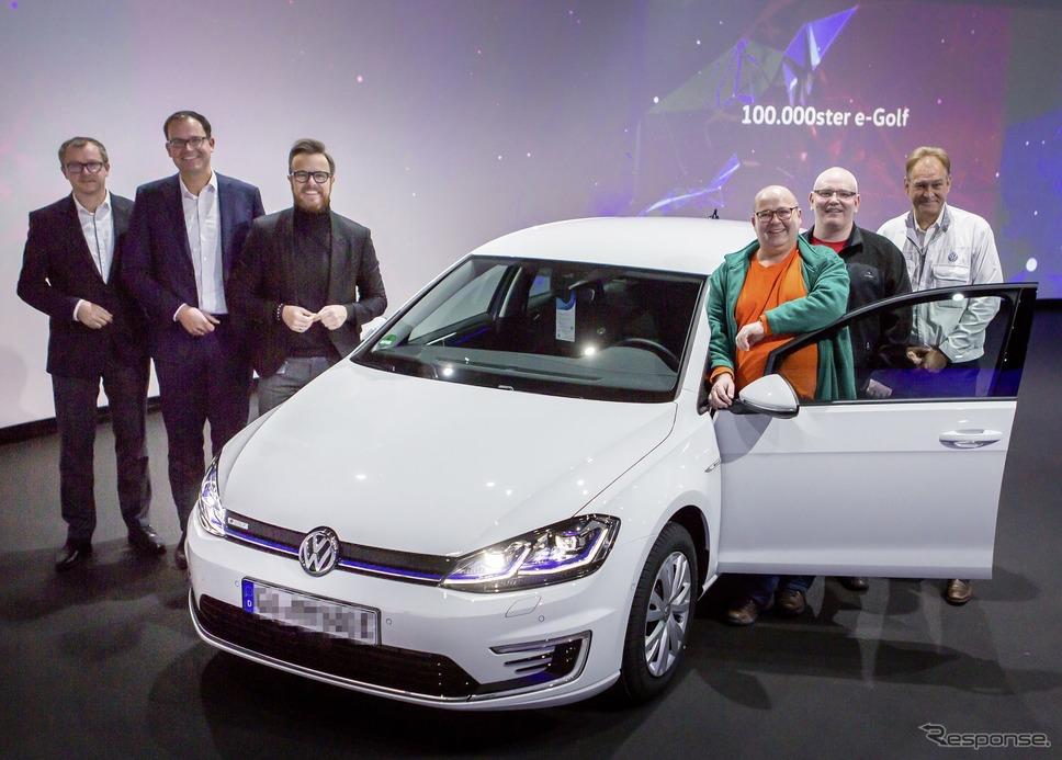 フォルクスワーゲン e-ゴルフの10万台目を顧客に引き渡し《photo by VW》