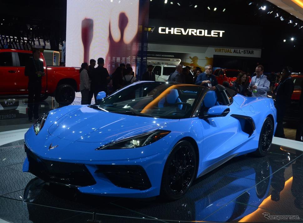 シボレー・コルベット・スティングレイ・コンバーチブル 新型(ロサンゼルスモーターショー2019)《photo by Chevrolet》