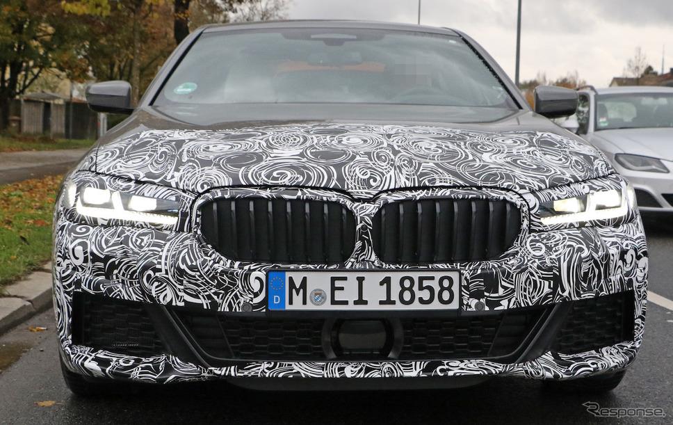 BMW 5シリーズ 改良新型 Mスポーツパッケージ(スクープ写真)《APOLLO NEWS SERVICE》