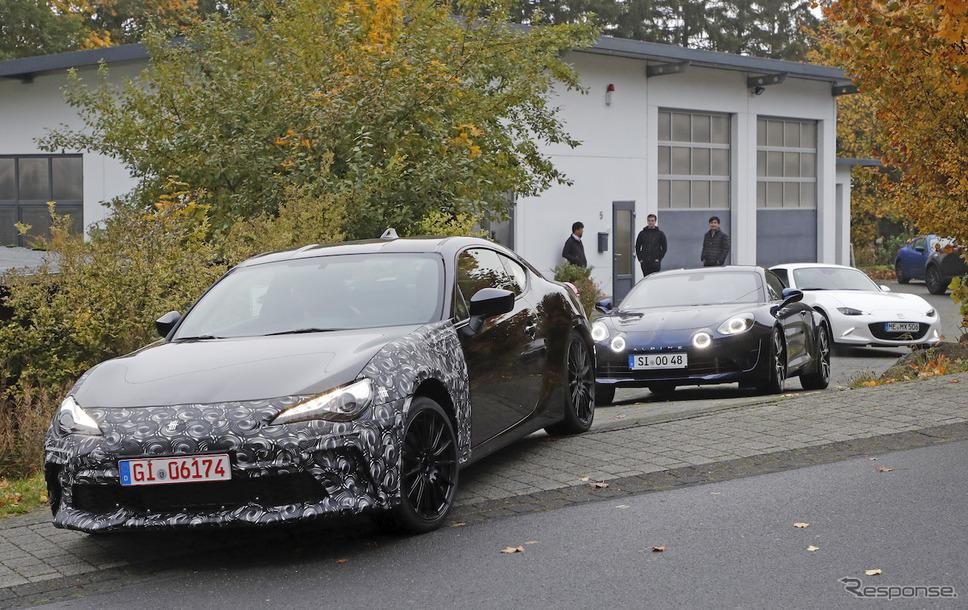 スバル BRZ 開発車両 スクープ写真《APOLLO NEWS SERVICE》