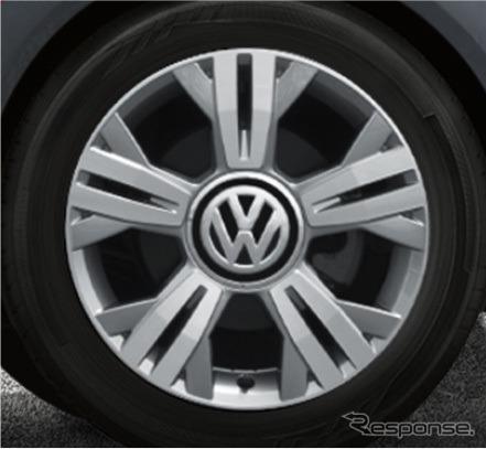VW cross up! 16インチアルミホイール《画像:フォルクスワーゲングループジャパン》