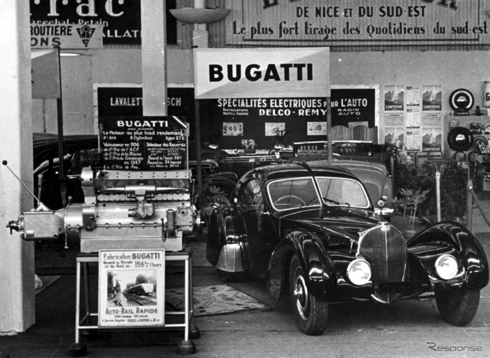 タイプ57 SCアトランティック・クーペ。ノワールか。《photo by Bugatti 》