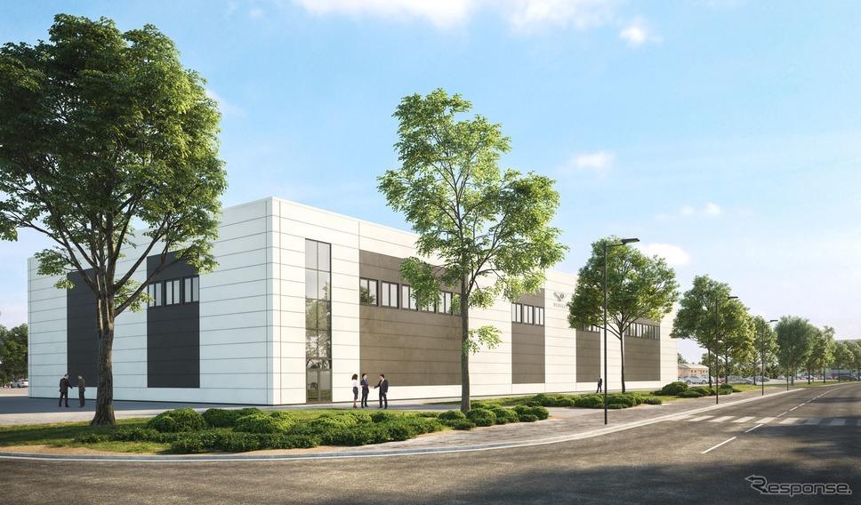 ベントレーの新エンジニアリングテストセンターの完成予想図《photo by Bentley》