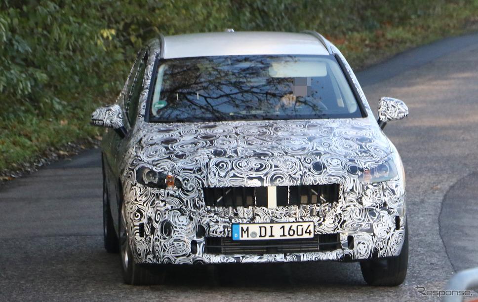 BMW 2シリーズアクティブツアラー 次期型プロトタイプ(スクープ写真)《APOLLO NEWS SERVICE》