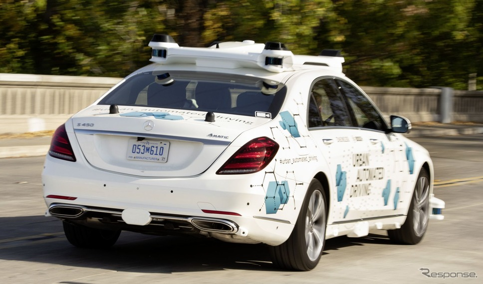 メルセデスベンツ Sクラス の自動運転車によるライドシェアの実証実験《photo by Mercedes-Benz》