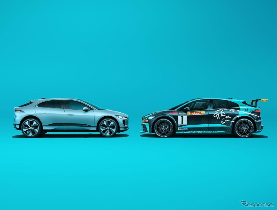 ジャガー I-PACE と I-PACE eトロフィー《photo by Jaguar》