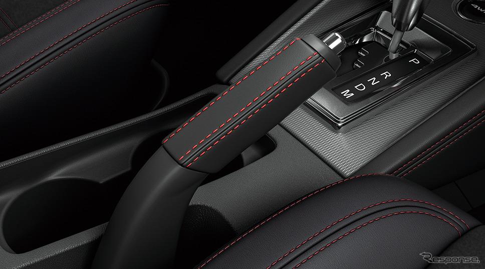 三菱 RVR ブラックエディション 本革巻パーキングブレーキレバー《画像:三菱自動車》