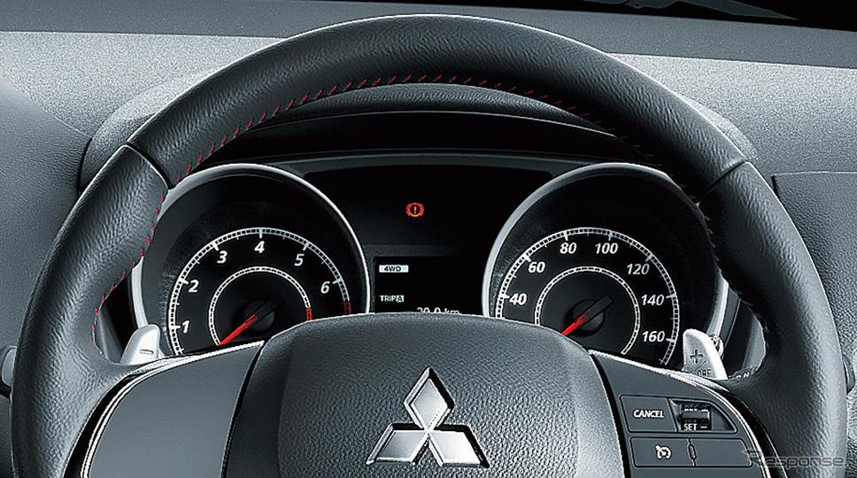 三菱 RVR ブラックエディション 本革巻ステアリングホイール《画像:三菱自動車》