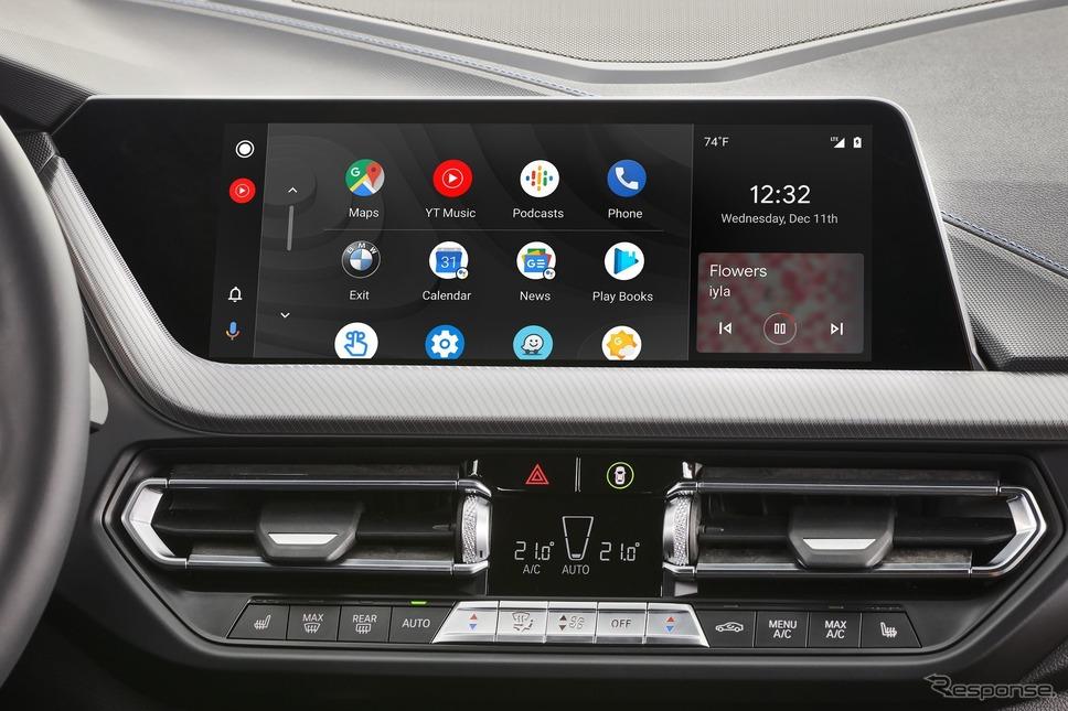 BMWが車載化するグーグルの「Android Auto」《photo by BMW》