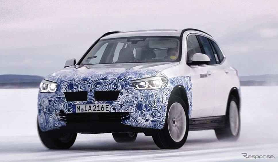 BMW iX3 の開発プロトタイプ車《photo by BMW》