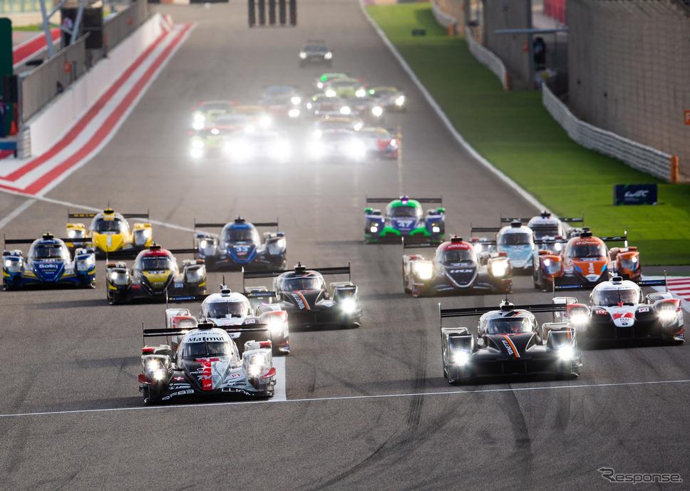 決勝スタート。最前列の向かって左が#1 レベリオン、右が#5 ジネッタ。《写真提供 FIA-WEC》