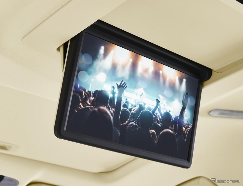 トヨタ アルファード 13.3インチリヤシートエンターテインメントシステム《画像:トヨタ自動車》